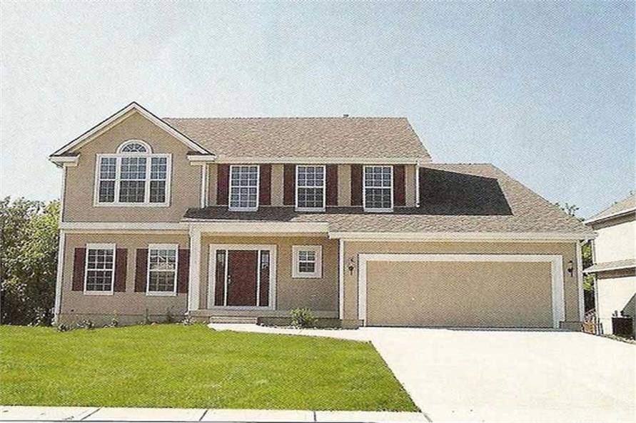 Front elevation photo of Country home (ThePlanCollection: House Plan #147-1131)