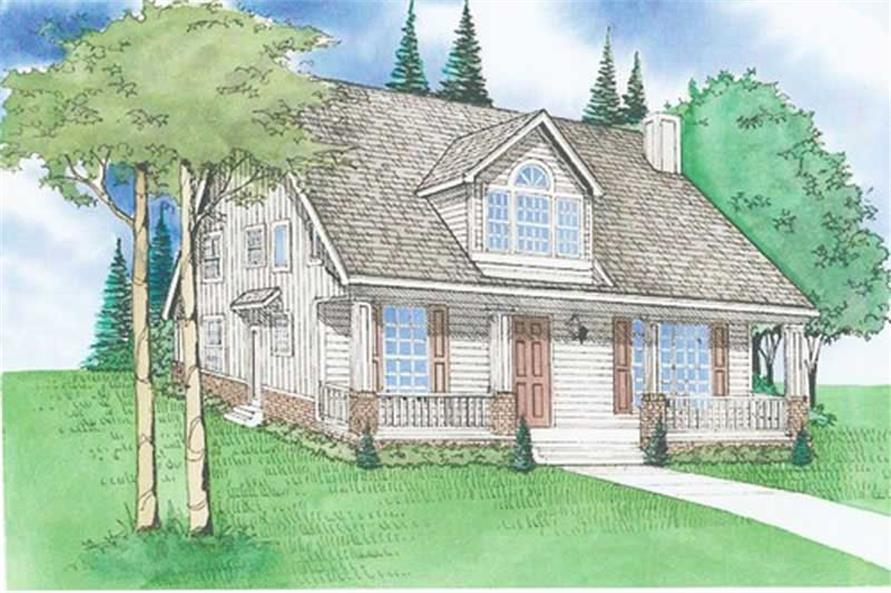 Front elevation of Country home (ThePlanCollection: House Plan #147-1147)