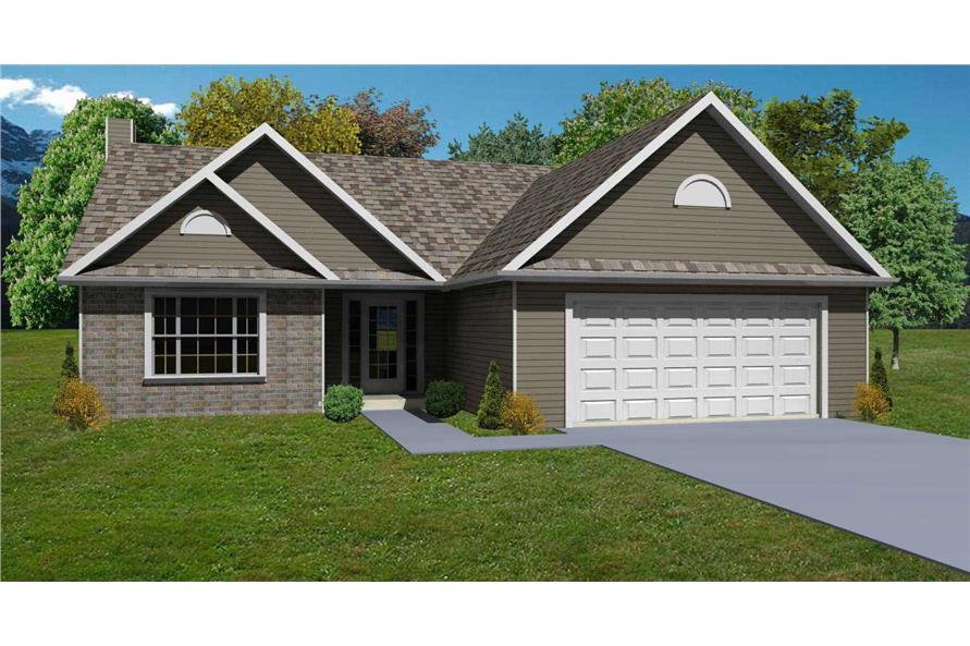 This is a well-done computer rendering for these Traditional Country Craftsman House Plans.