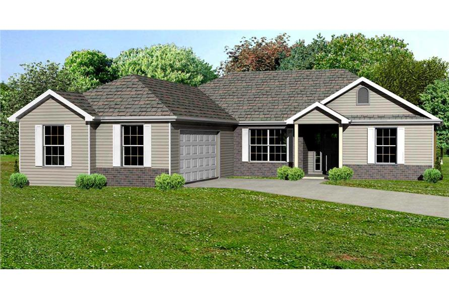 This is the computerized rendering of these Craftsman House Plans.