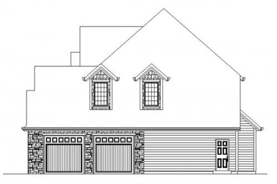 This image shows the side of the home plan.