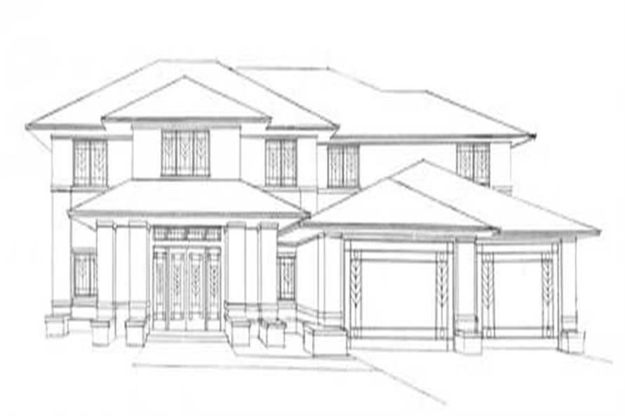 This image shows the praire style of the home.