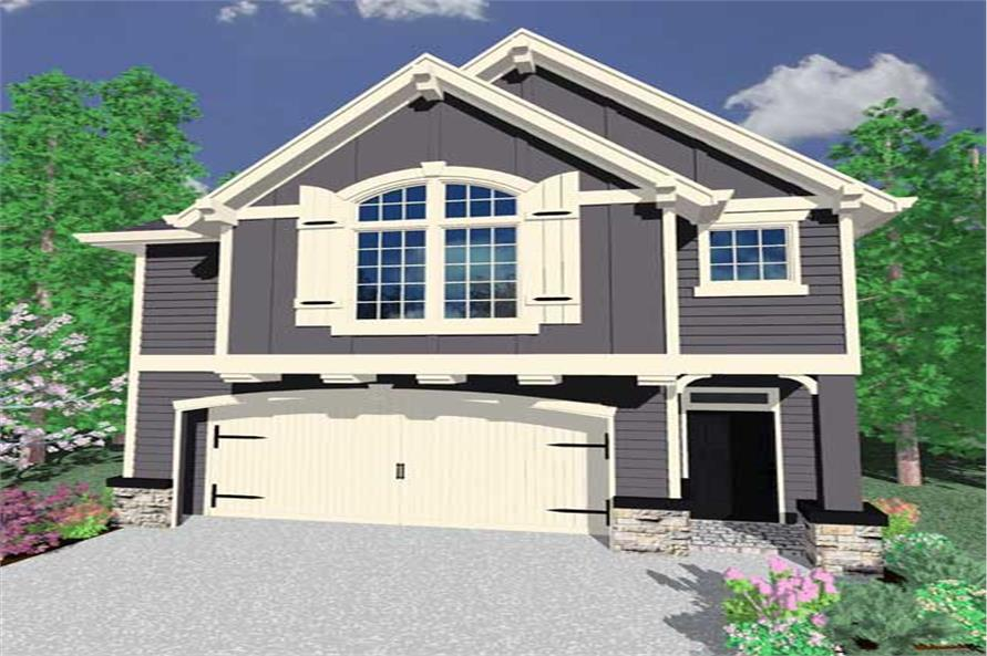 This is an artist's rendering for these Craftsman House Plans.