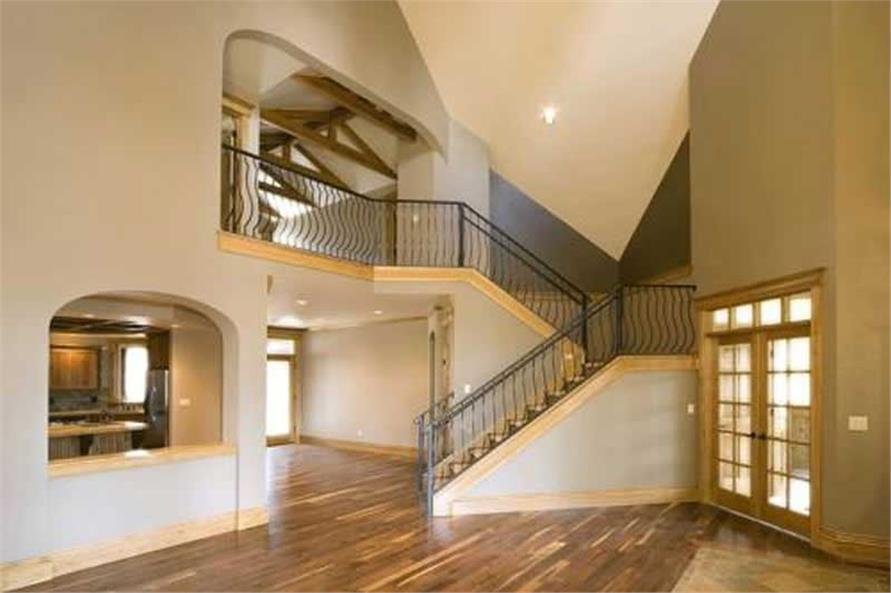 This image shows the spacious inside of the home.