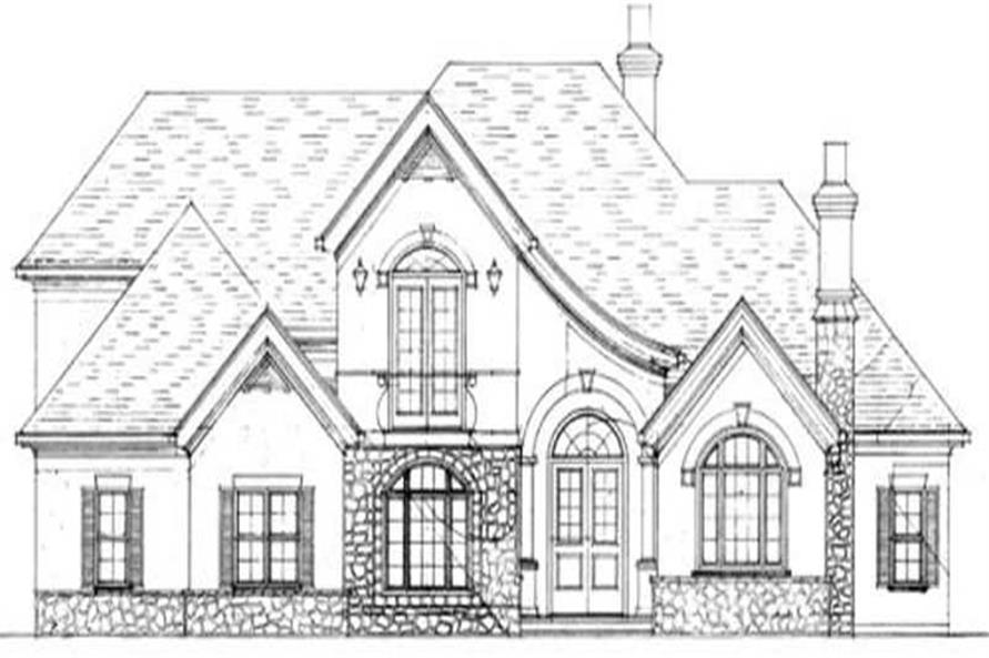 This image shows the transitional style of the home.