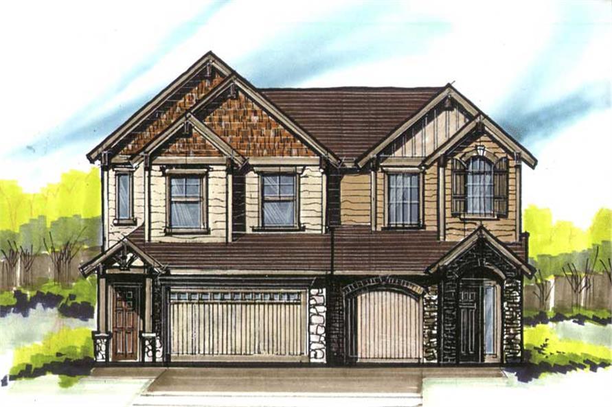 Main image for craftsman houseplans # 16640