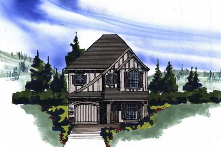 This image shows the front of the home plan.