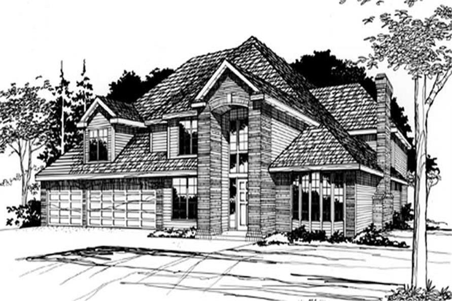 Main image for house plan # 2495