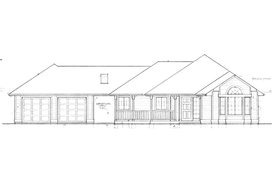 149-1551 house plan with attached garage option