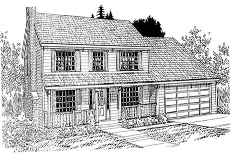 Main image for house plan # 2605
