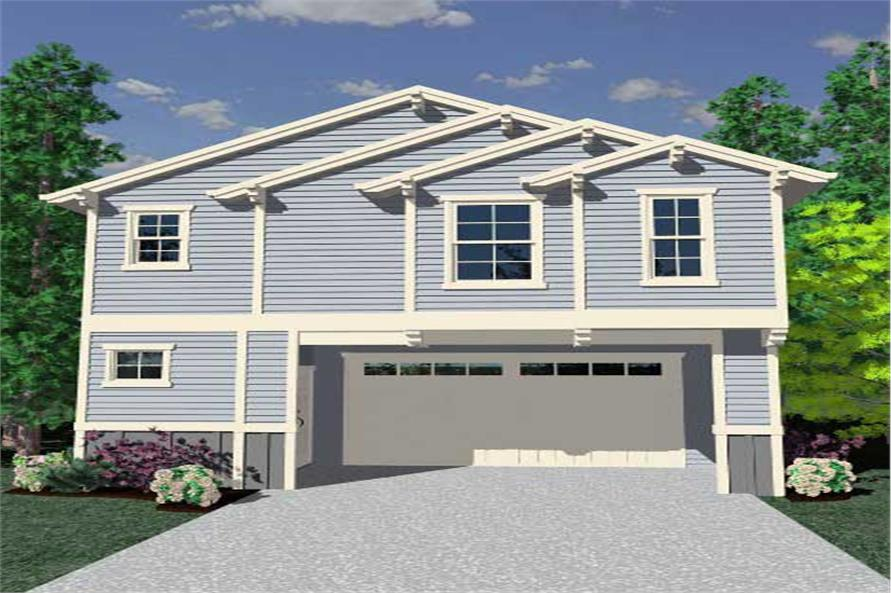 This is a computerized rendering for these House Plans.