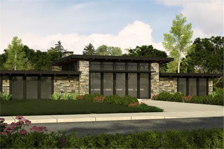 149-1837: Home Plan Rendering-Front Door