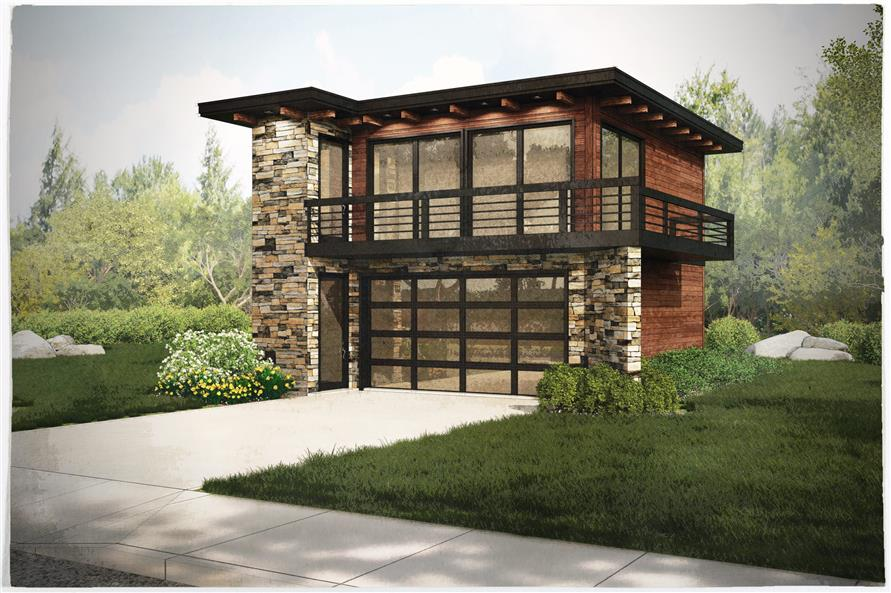 149-1838 apartment garage front rendering