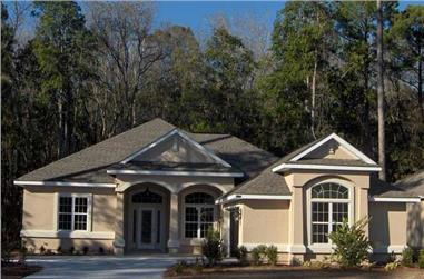 3-Bedroom, 1802 Sq Ft Florida Style House Plan - 150-1002 - Front Exterior