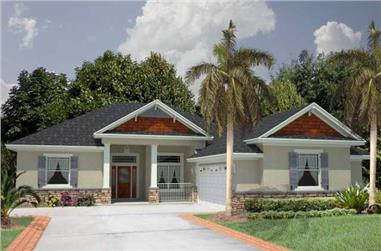 4-Bedroom, 1933 Sq Ft Florida Style Home Plan - 150-1004 - Main Exterior