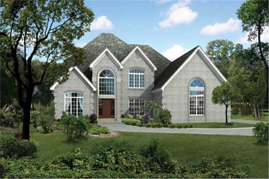 This is a computer rendering of these charming Luxury House Plans.