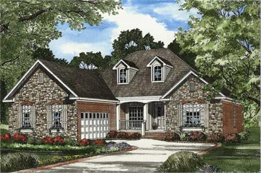 This is a colored rendering of European Home Plans NDG-544B.