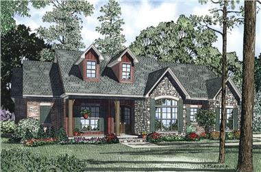 3-Bedroom, 1960 Sq Ft Country Home Plan - 153-1115 - Main Exterior