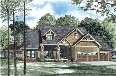 4-Bedroom, 3345 Sq Ft Country House Plan - 153-1123 - Front Exterior