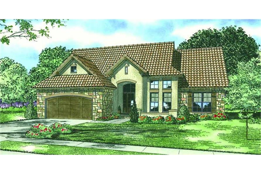 153-1125: Home Plan Rendering-Front