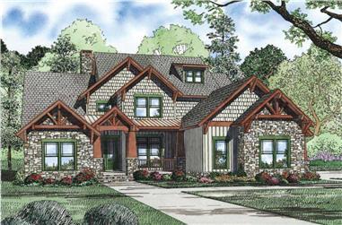 4-Bedroom, 3843 Sq Ft Craftsman Home Plan - 153-1126 - Main Exterior