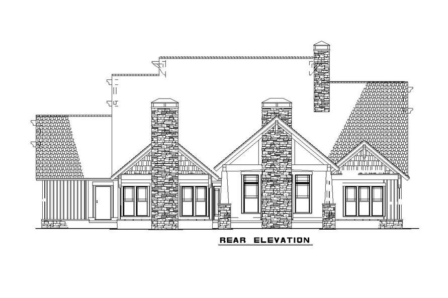 153-1126 house plan rear