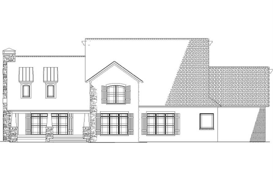 154-1134 house plan rear