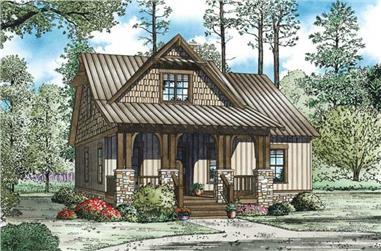 3-Bedroom, 1379 Sq Ft Craftsman Home - Plan #153-1147 - Main Exterior