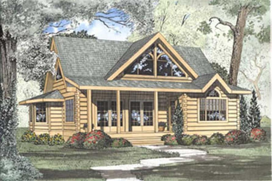Color rendering of House Plan #153-1216