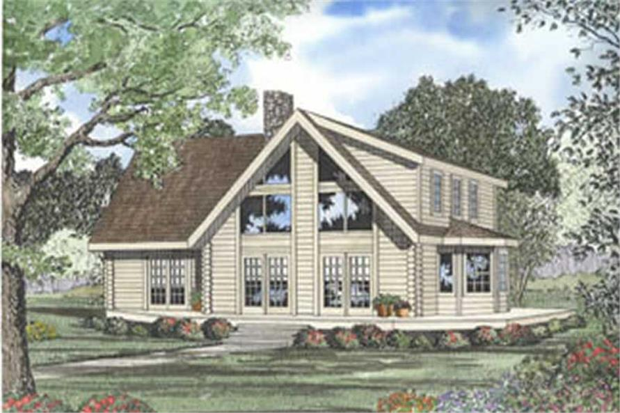 This image shows the Vacation and Cabin Style for this set of house plans.