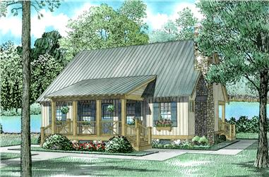 3-Bedroom, 1374 Sq Ft Cottage Home Plan - 153-1230 - Main Exterior