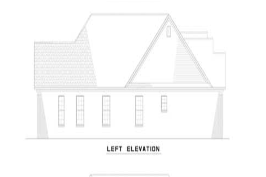 153-1319: Home Plan Left Elevation