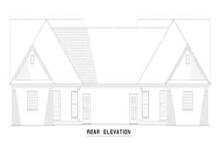 153-1319: Home Plan Rear Elevation