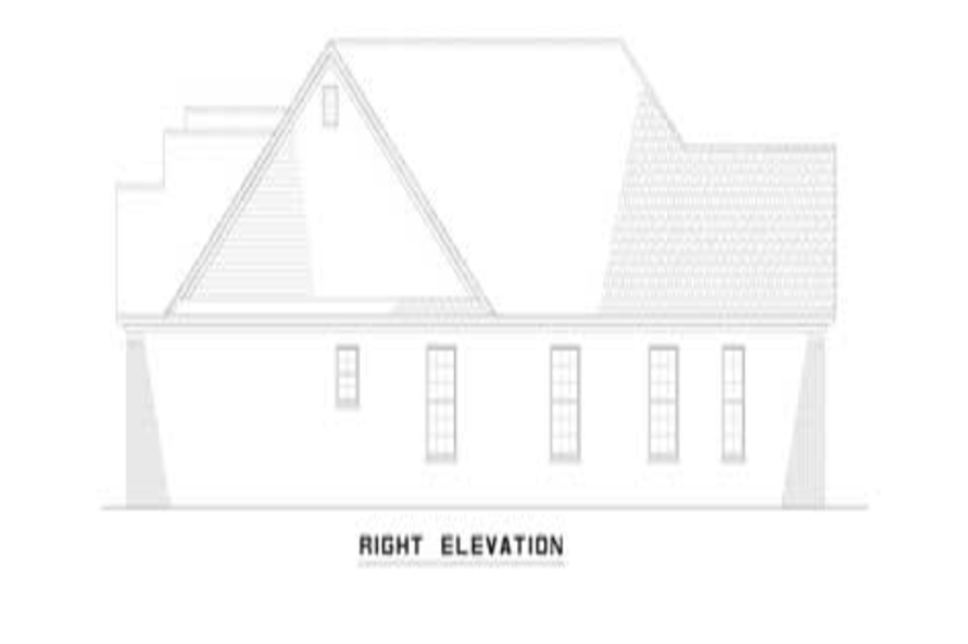 153-1319: Home Plan Right Elevation