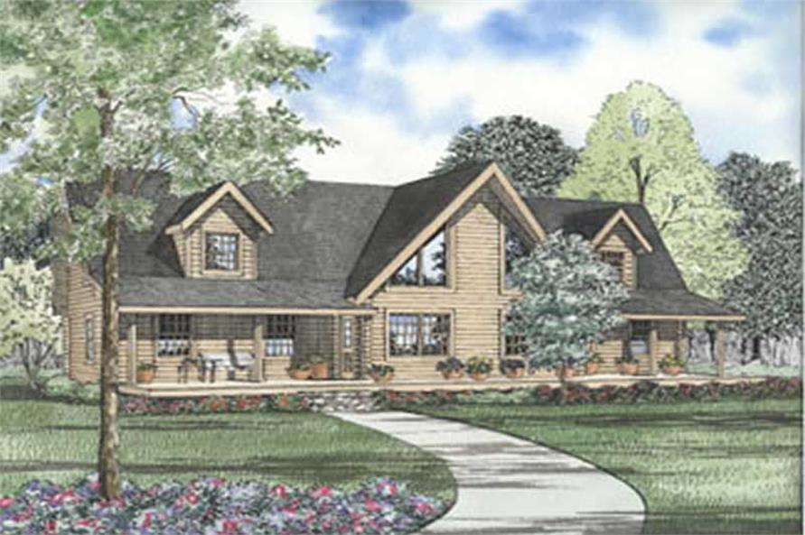 Main image for log cabin home plans # 5115