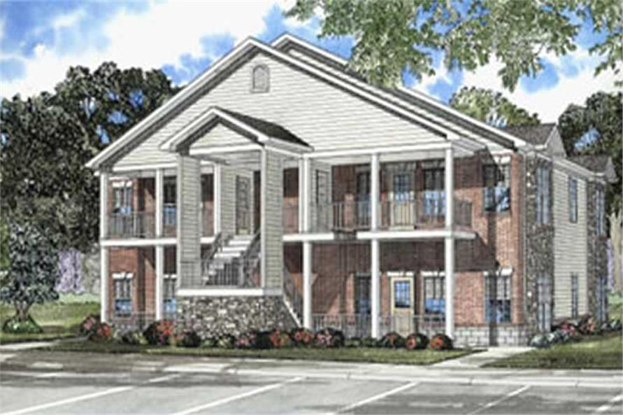Main image for house plan # 3804