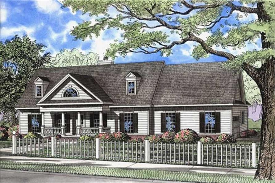 Main image for house plan # 7789