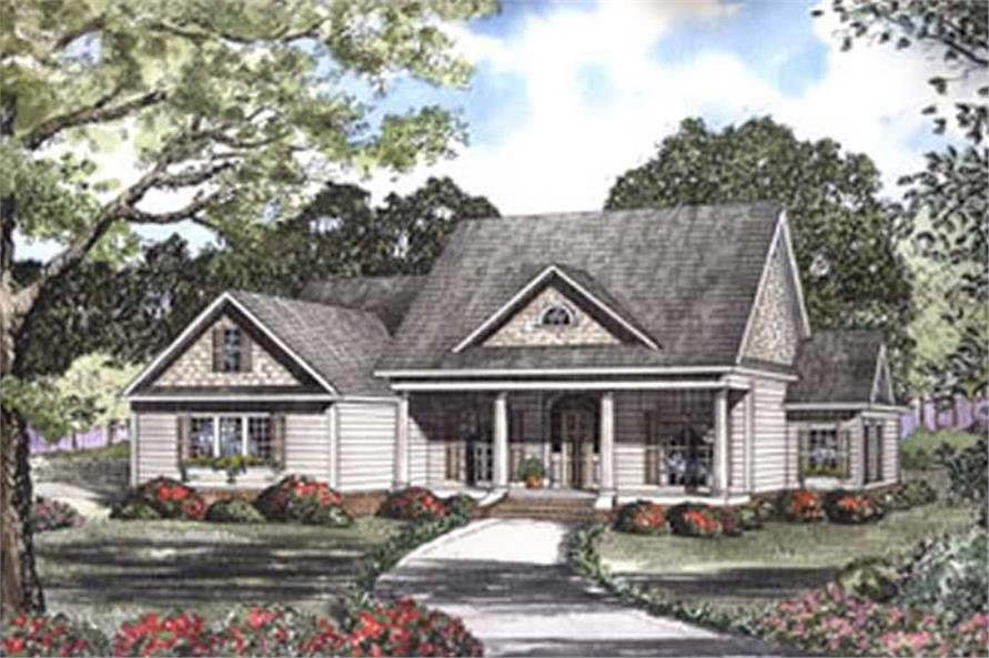 Front elevation of Southern home (ThePlanCollection: House Plan #153-1442)