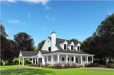 4-Bedroom, 2039 Sq Ft Southern Country Home - Plan #153-1454 - Main Exterior