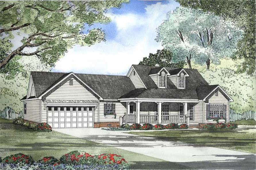This is a beautiful rendering of these Cape Cod House Plans.