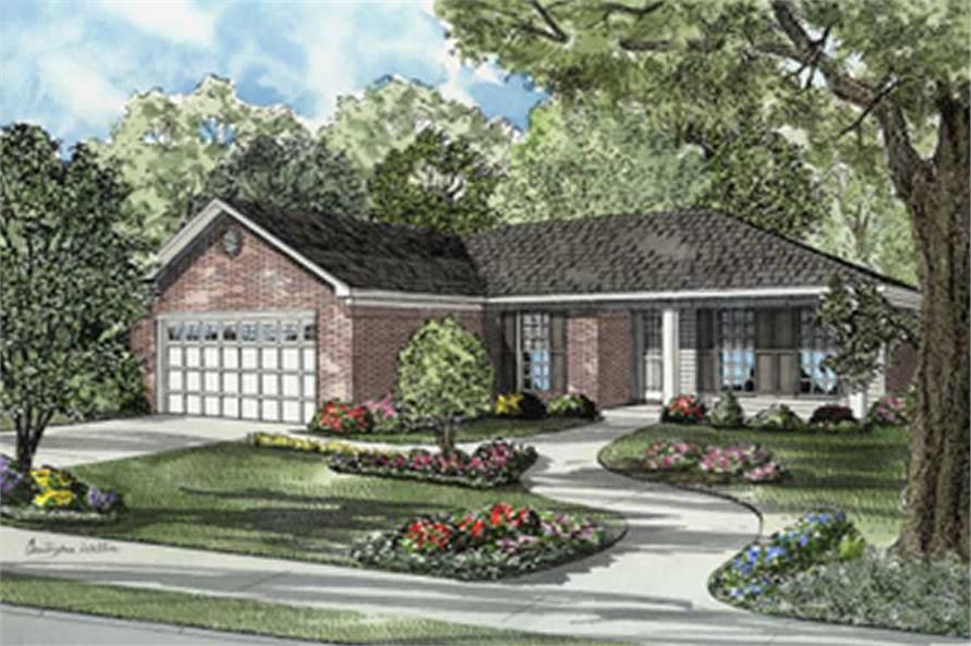Main image for house plan # 7888