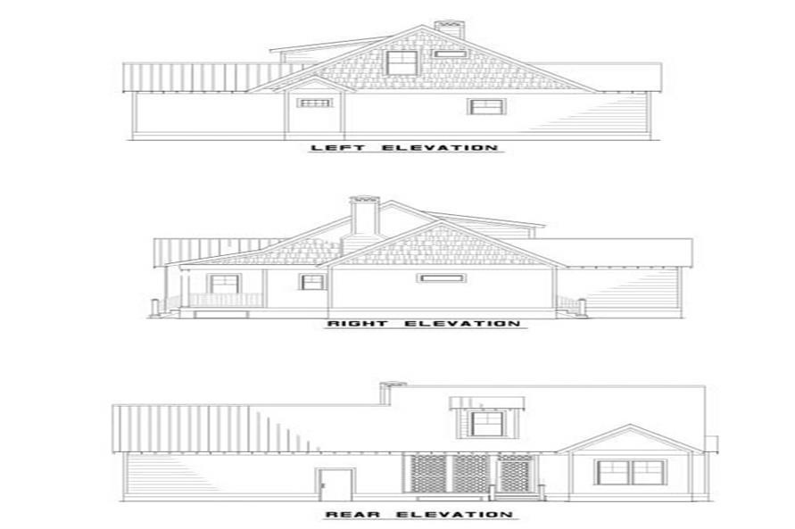 153-1517: Home Plan Rear Elevation