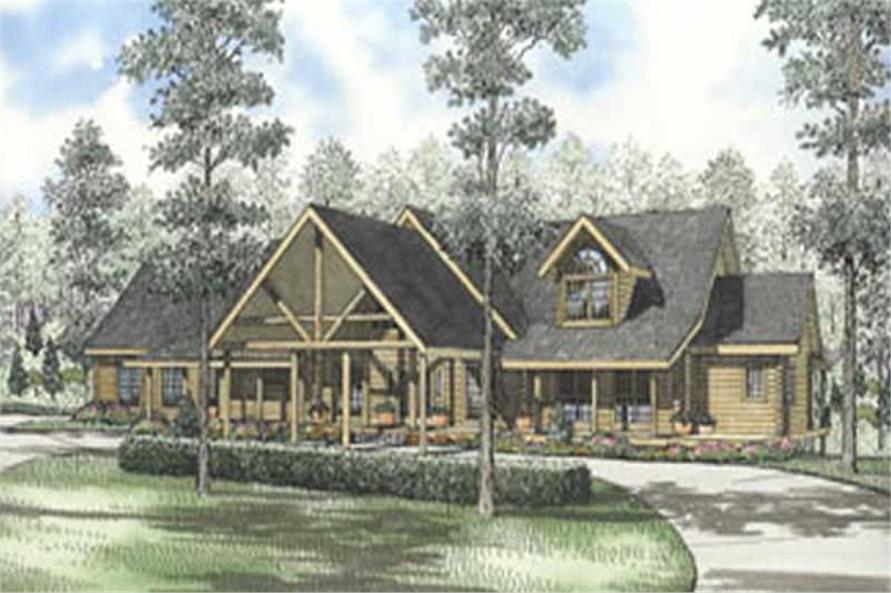 Log Cabin color rendering.