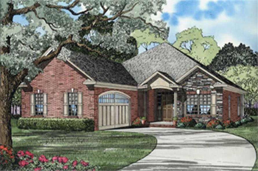 Front elevation of Country home (ThePlanCollection: House Plan #153-1536)