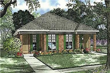 4-Bedroom, 1844 Sq Ft Contemporary House - Plan #153-1591 - Front Exterior