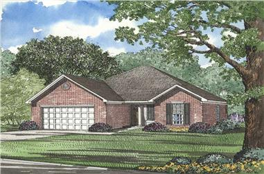 3-Bedroom, 1382 Sq Ft French Home Plan - 153-1608 - Main Exterior