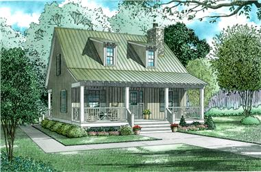 2-Bedroom, 1400 Sq Ft Rustic Country Home - 153-1649 - Main Exterior