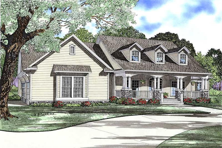 Main image for house plan # 8478