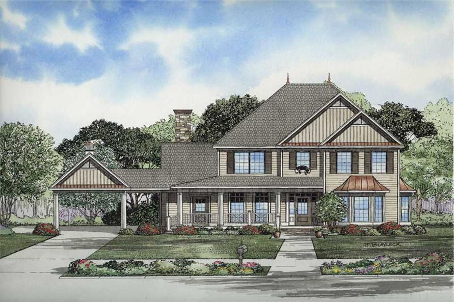Main image for house plan # 8205