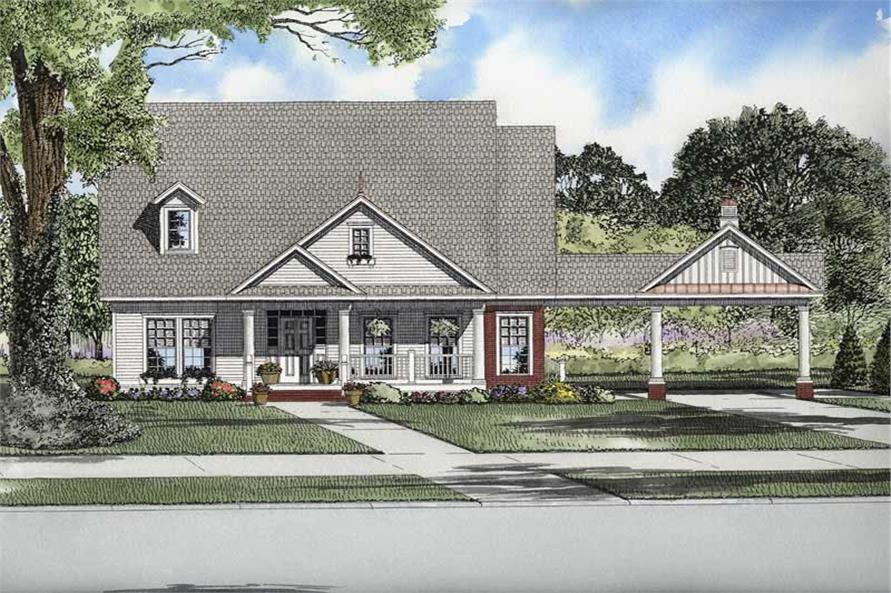 Main image for house plan # 8216
